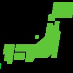 日本地図(都道府県分け)のイラスト02