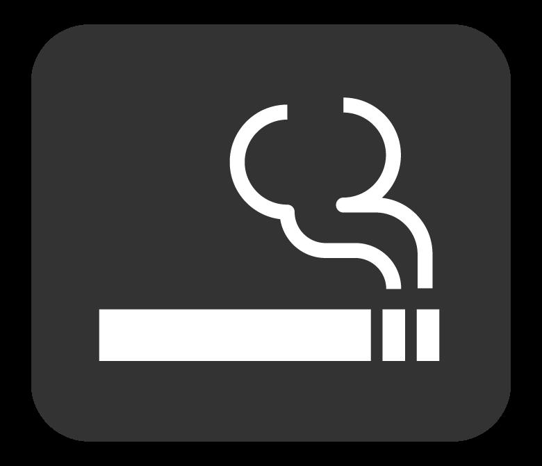 喫煙所マーク(白抜き)のイラスト
