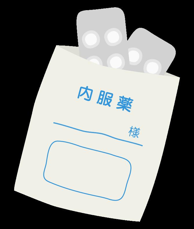 内服薬(錠剤)のイラスト
