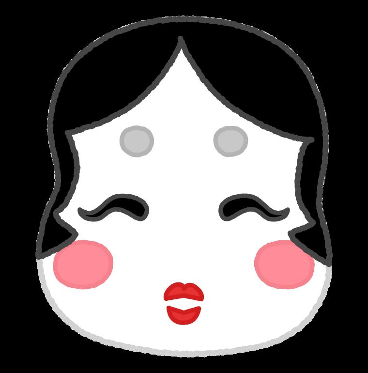 おかめ(お多福)のイラスト02