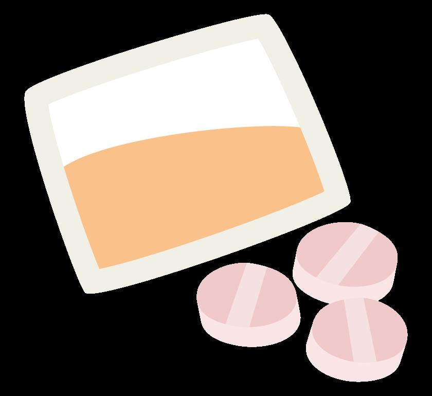 粉薬と錠剤のイラスト
