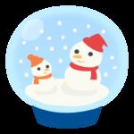 雪だるまのスノードームのイラスト