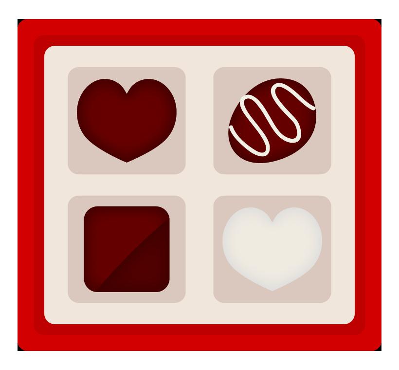 バレンタインチョコのイラスト