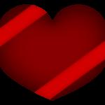 ハートのバレンタインチョコのイラスト