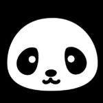 かわいいパンダ(顔)のイラスト
