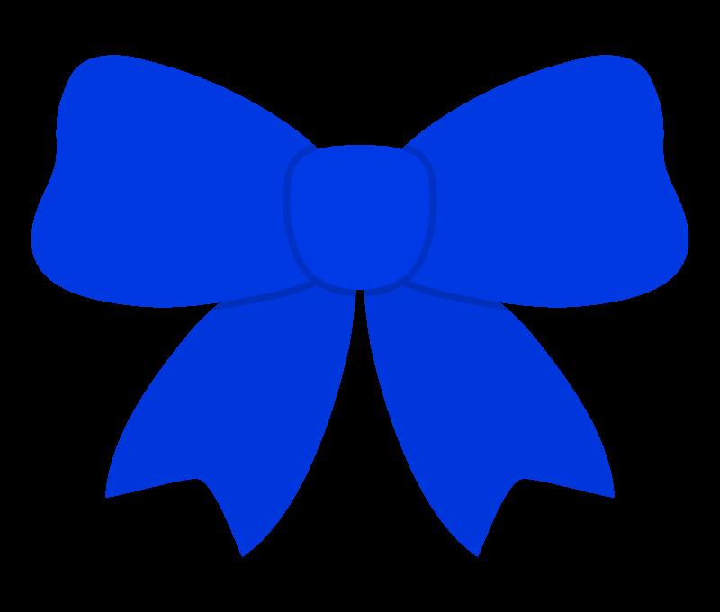 青いリボンのイラスト02