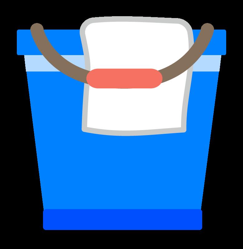 バケツと雑巾のイラスト