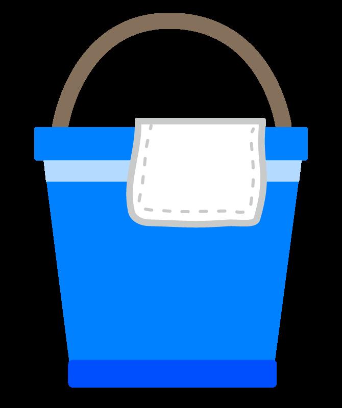 バケツと雑巾のイラスト02