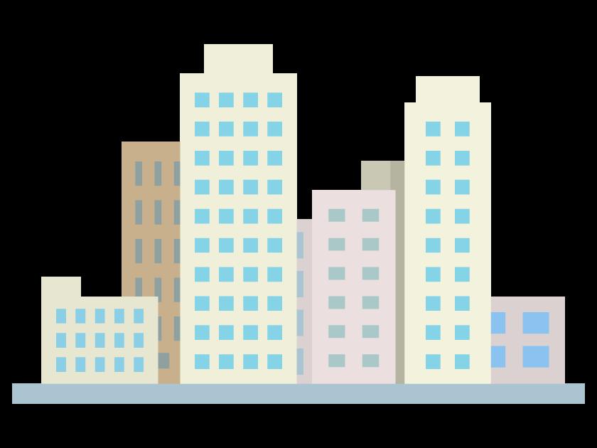 建物・高層ビルのイラスト
