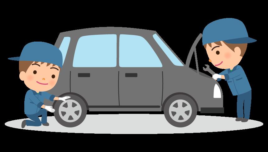 車の点検・メンテナンスのイラスト