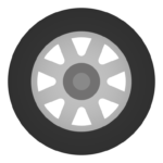 タイヤ(1本)のイラスト