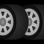 タイヤ(2本)のイラスト