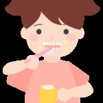 歯を磨いている子どものイラスト02