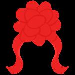 花のリボンのイラスト