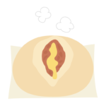ピザまんのイラスト