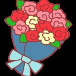 バラの花束のイラスト