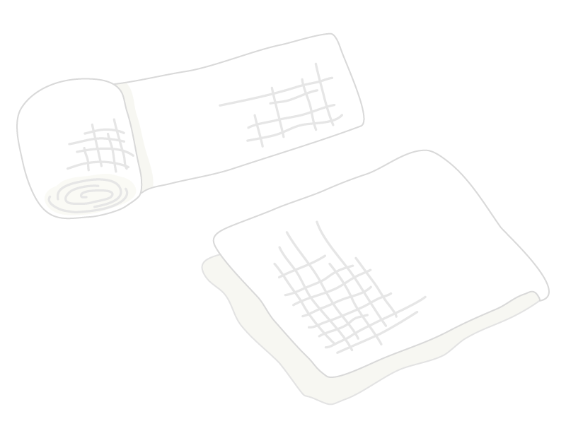 包帯とガーゼのイラスト