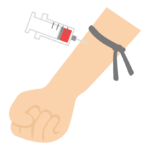 採血のイラスト