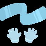 マフラーと手袋のイラスト
