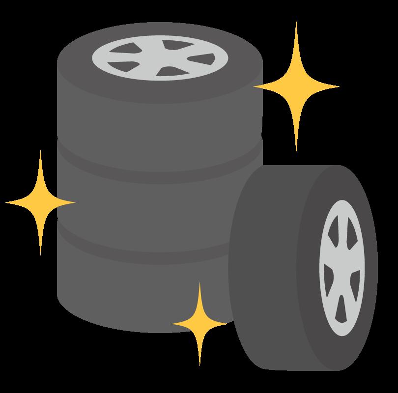 新品のタイヤのイラスト