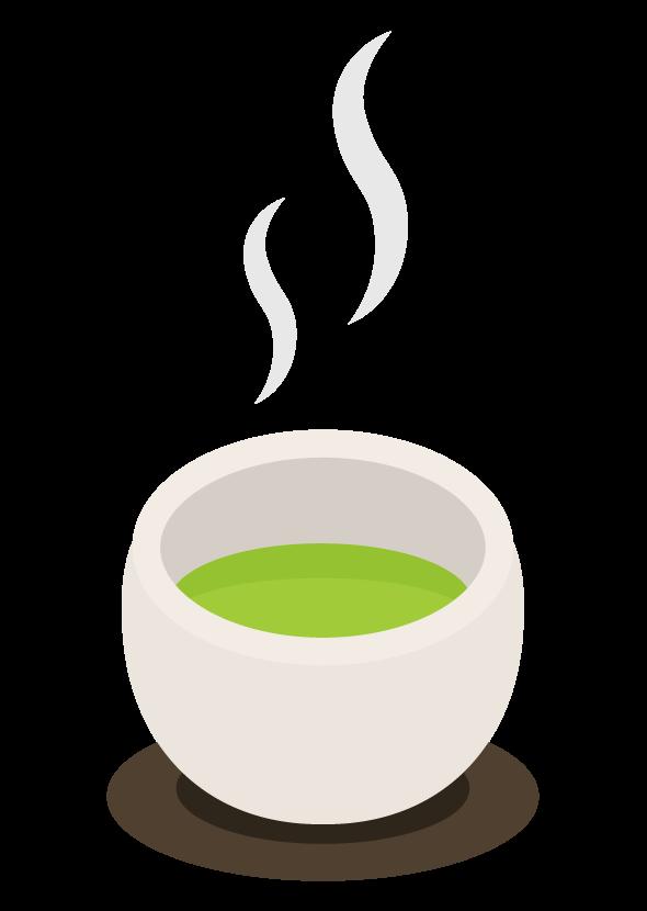 お茶・緑茶のイラスト