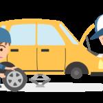 車のメンテナンス整備・車検のイラスト