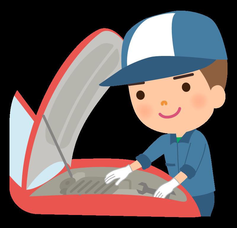 車の整備や修理・車検のイラスト