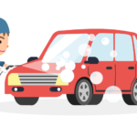 手洗い洗車のイラスト