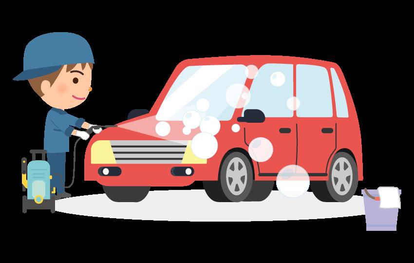 手洗い洗車のイラスト