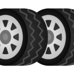 スタッドレスタイヤ(2本)のイラスト