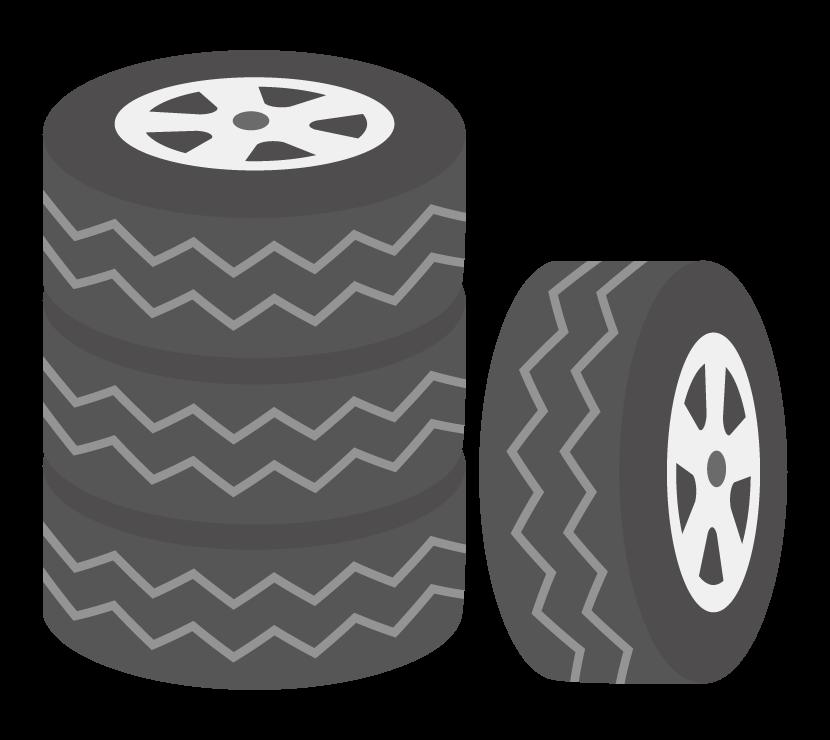 スタッドレスタイヤ(4本)のイラスト
