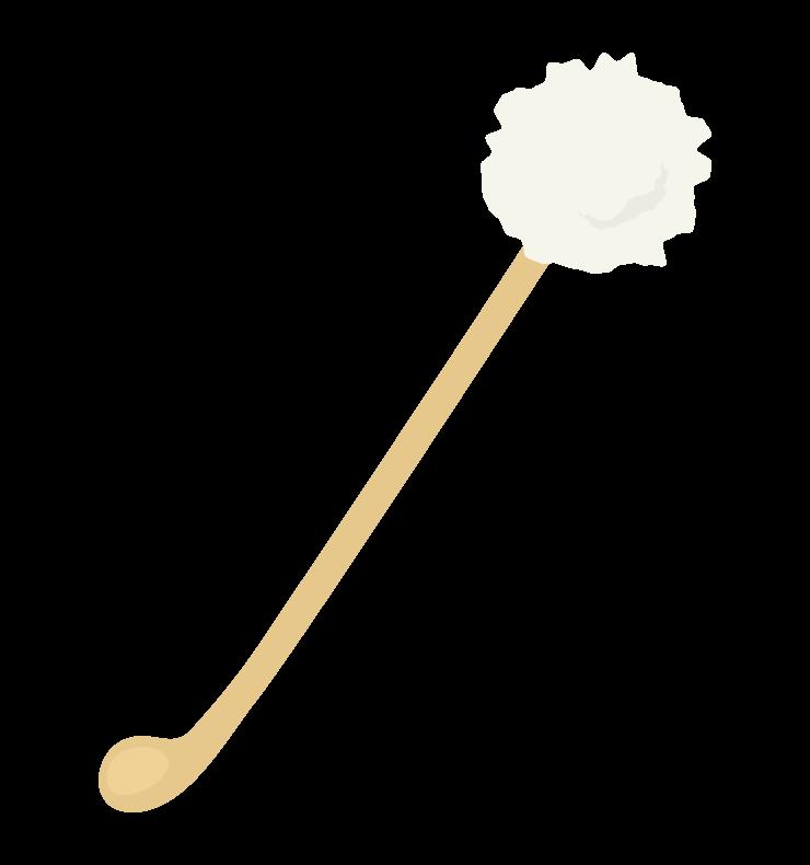 綿の付いた耳かきのイラスト