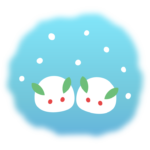 雪うさぎのイラスト