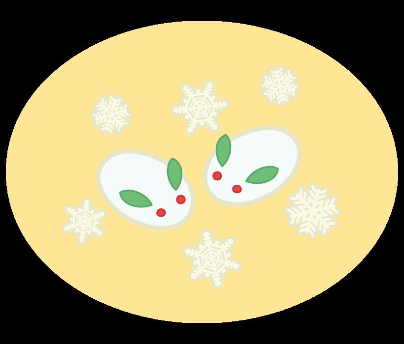 雪うさぎのイラスト02