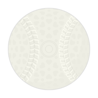 軟式の野球ボールのイラスト