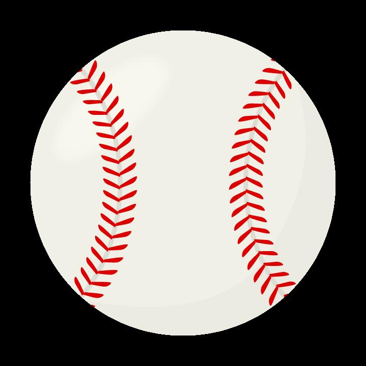 硬式の野球ボールのイラスト