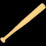 野球・バットのイラスト