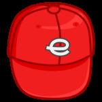 赤い野球帽のイラスト