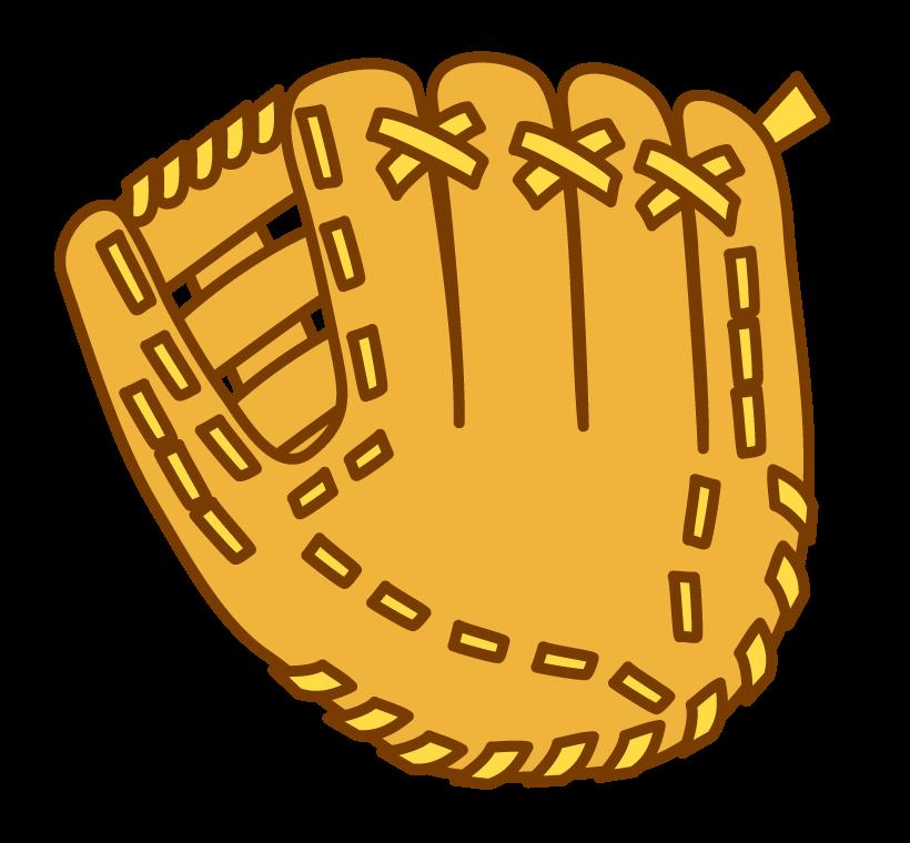 野球・グローブのイラスト02