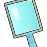 四角い手鏡のイラスト