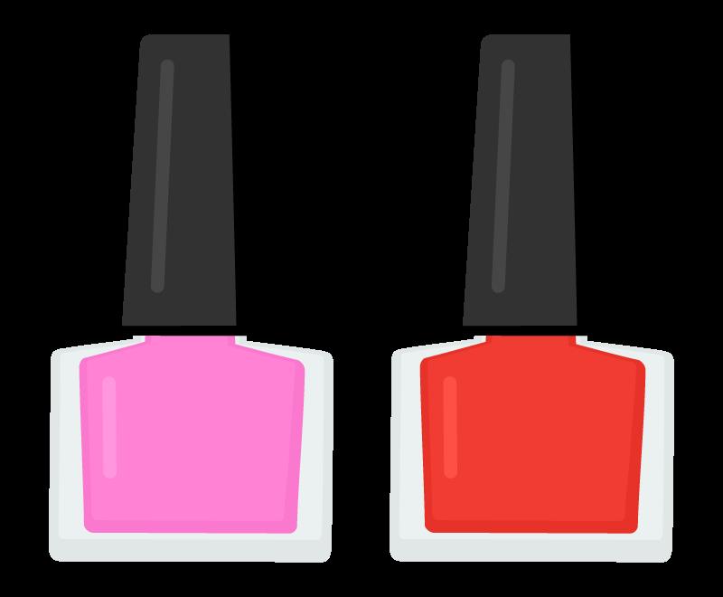 2色のネイルポリッシュ・マニキュアのイラスト