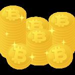 たくさんのビットコインのイラスト
