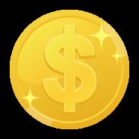 ドルコインのイラスト