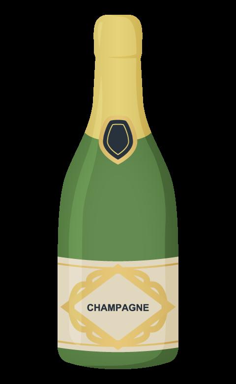 シャンパンボトルのイラスト
