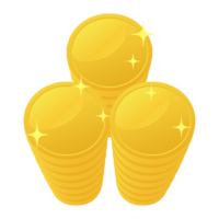 山積みの金貨・コインのイラスト