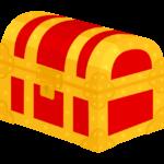 金の宝箱のイラスト