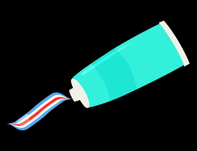 歯磨き粉のイラスト
