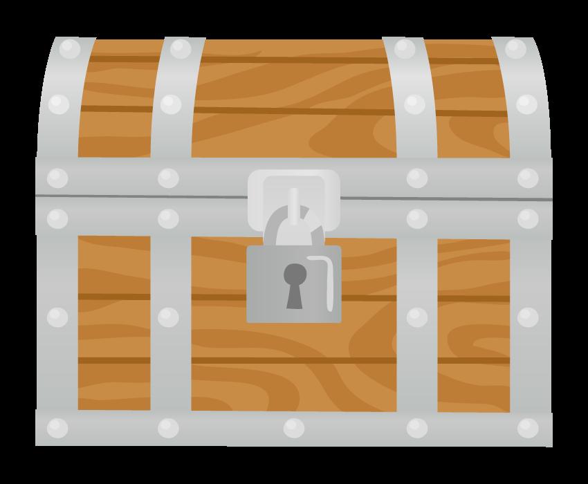 銀の宝箱のイラスト