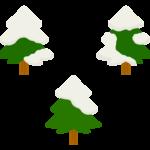 雪が積もったツリーのイラスト