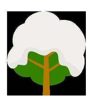 雪が積もったツリーのイラスト02